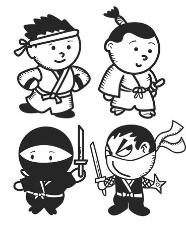 japanese warrior Illustration