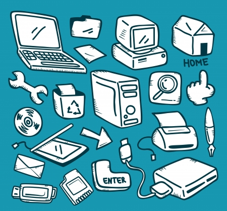 set of technology icon Vector
