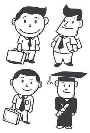 businessman doodle Stock Vector - 16898456