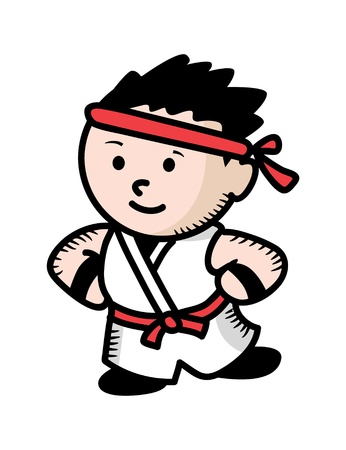 karate kid cartoon Stock Vector - 16974791
