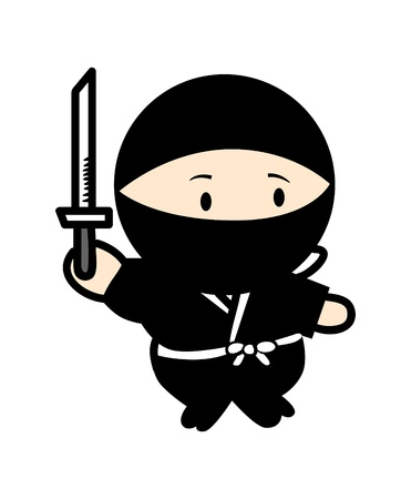 ninja warrior cartoon Vector