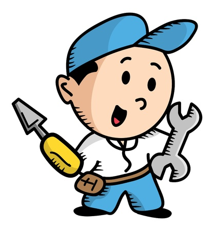 repairman cartoon Vector