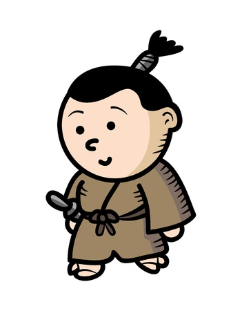 samurai warrior cartoon Vector