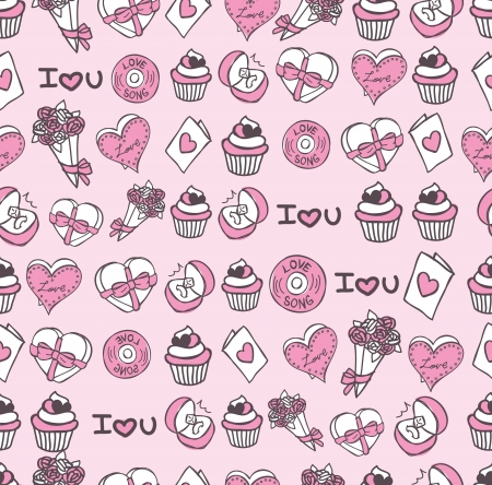cute chocolate: valentine s day background