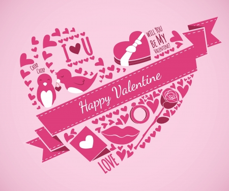 valentine illustration Stock Vector - 17020876