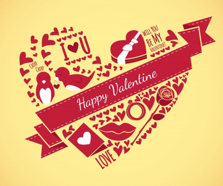 valentine illustration Vector