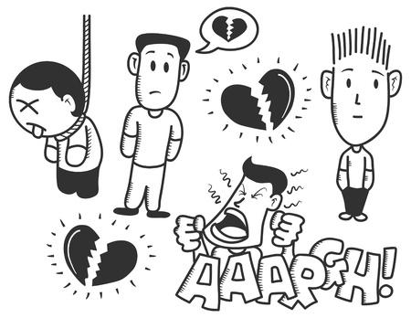 broken heart: broken heart doodle