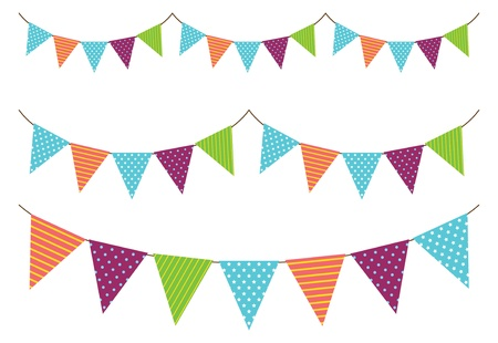 bunting flags: set of garland decoration