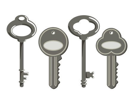 vintage key Stock Vector - 17204254