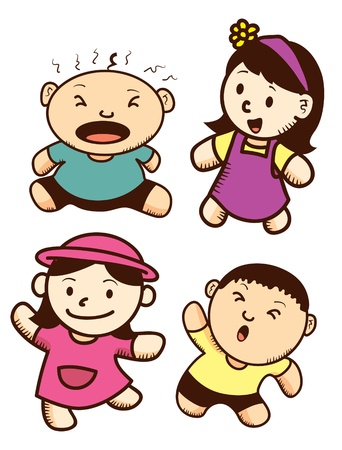 set of cut children cartoon with various expression Stock Vector - 17223689