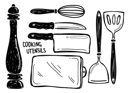 pepper mill: cooking utensil doodle