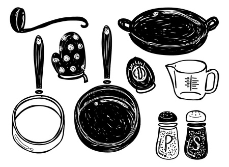 salt pepper: cooking utensil doodle