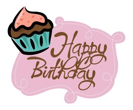 honey cake: cupcake birthday card