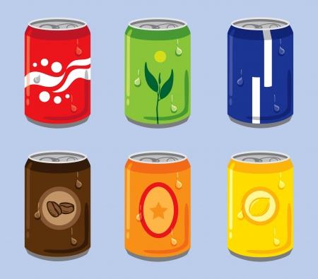 canette de boisson gazeuse Vecteurs