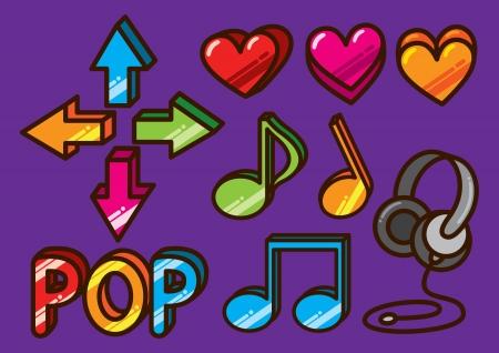heart tone: colorful music icon