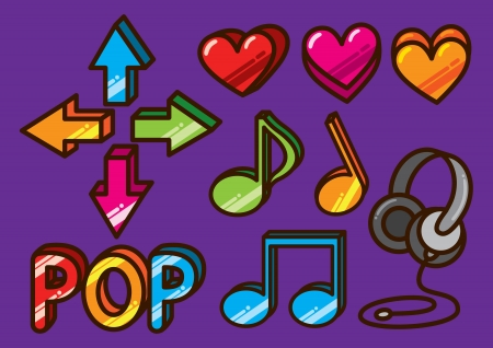 heart tone: icono de la m�sica colorida