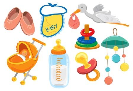 Baby-Sachen Cartoon-Ikone Standard-Bild - 18336313