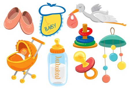 baby stuff cartoon icon Vector