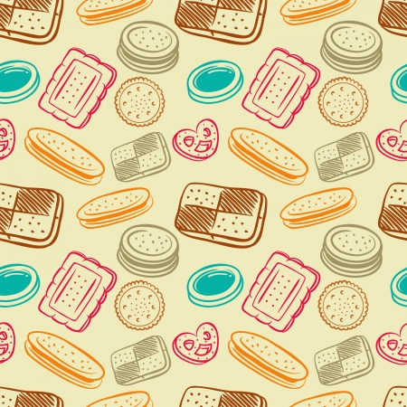 biscuit pattern Vector