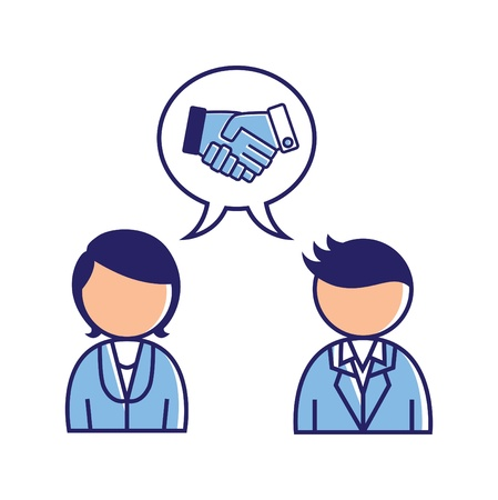 business agreement icon Stock Vector - 18335137