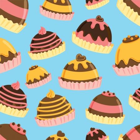 cake balls: chocolate ball seamless pattern