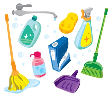 cleaning kit icon Vector
