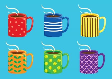 colorful mug Stock Vector - 18336264