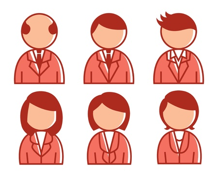 representatives: employee icon Illustration