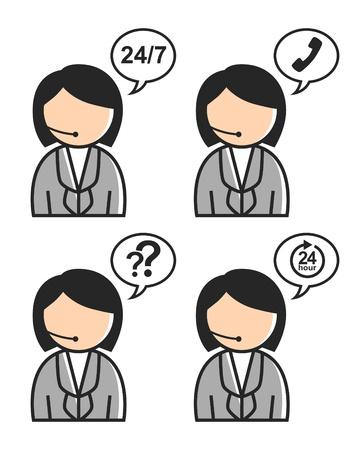 customer service icon: customer service icon Illustration