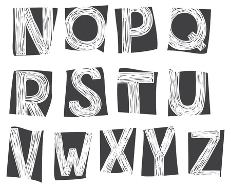 doodle alphabet Stock Vector - 18336271