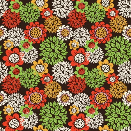 small plant: vintage floral seamless pattern