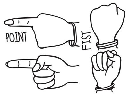 hand doodle Vector
