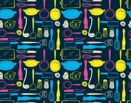 keukengerei naadloze patroon