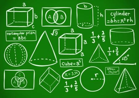 Mathematik doodle Standard-Bild - 18336230