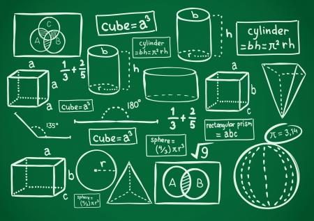 simbolos matematicos: matem?cas del doodle Vectores