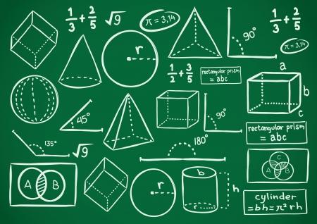 mathematics doodle Vector