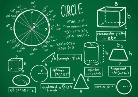 simbolos matematicos: matemáticas del doodle Vectores