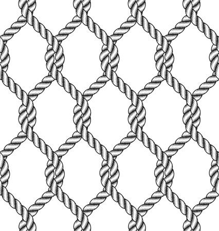 Nahtlose Seil Knoten Muster Standard-Bild - 18336311