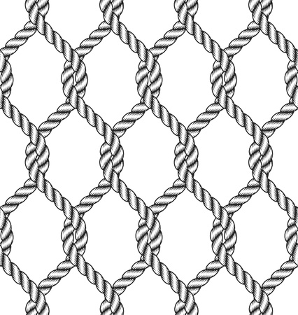 zökkenőmentes kötél csomó minta Illusztráció