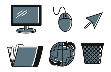 set of computer icon Stock Vector - 18335132