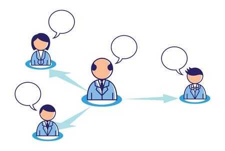 team work conceptual illustration Stock Vector - 18336059