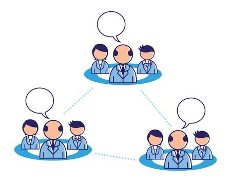 team work conceptual illustration Stock Vector - 18336236