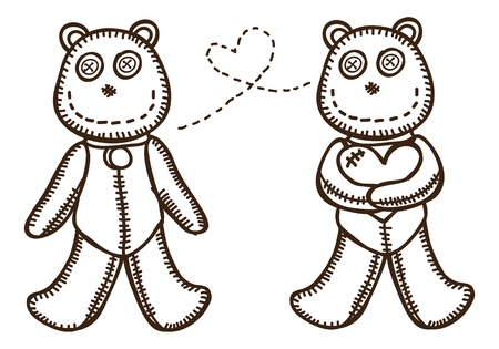 cute bead doll Stock Vector - 18336074