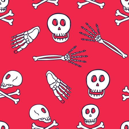 skull seamless pattern Stock Vector - 18436953
