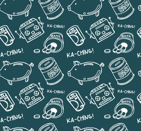 money bank seamless pattern Vector