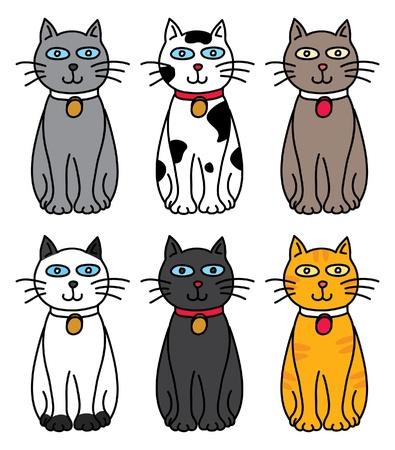 set of cat Illustration