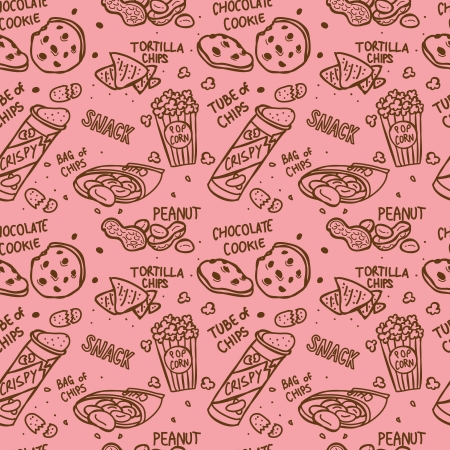 snack seamless pattern Vector
