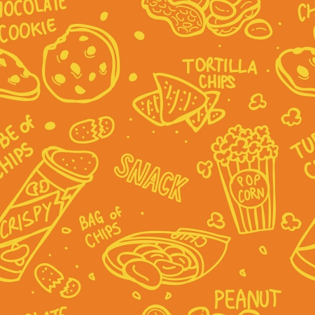 snack seamless pattern Stock Vector - 18436945