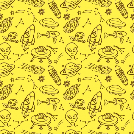 space and alien seamless pattern Stock Vector - 18436954