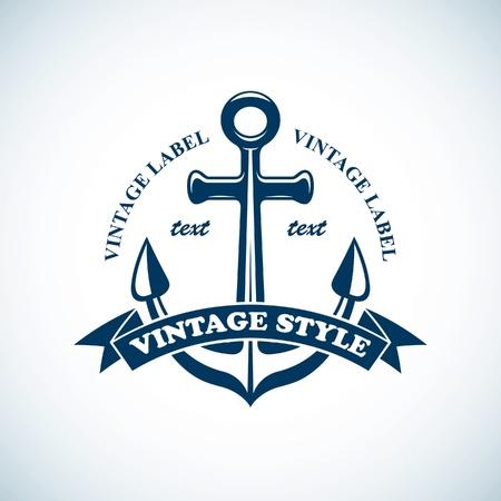 ancla: emblema náutico vendimia
